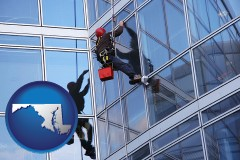 maryland a window washer, washing office building windows
