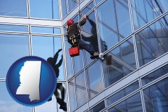 mississippi a window washer, washing office building windows