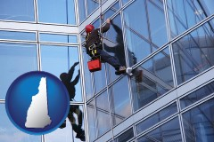 new-hampshire a window washer, washing office building windows